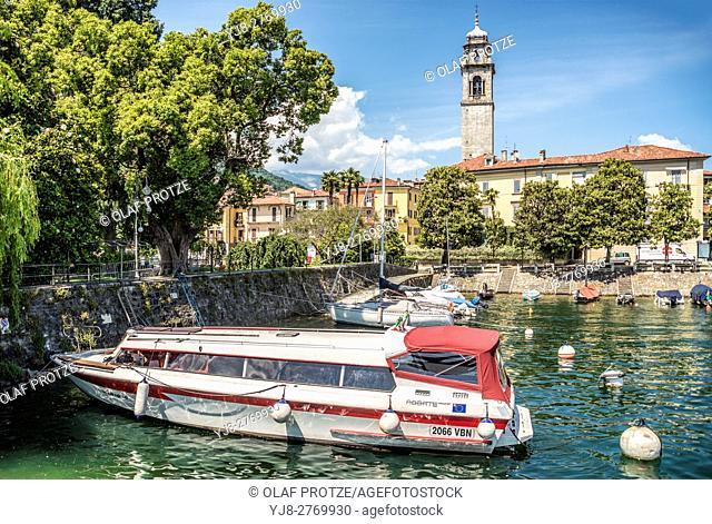 Marina of Pallanza at Lago Maggiore, Piedmont, Italy