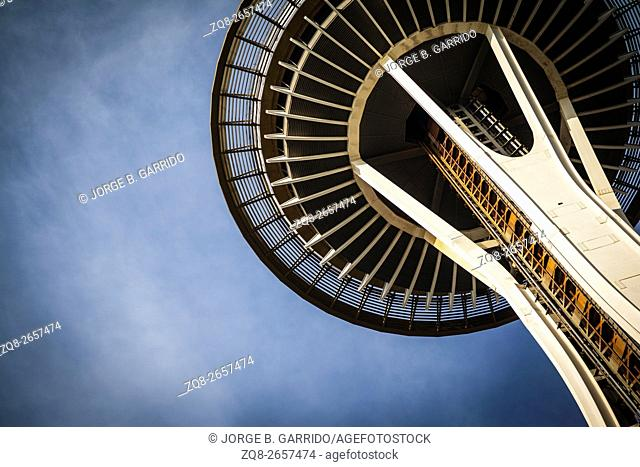 The Space Needle, in Seattle, Washington