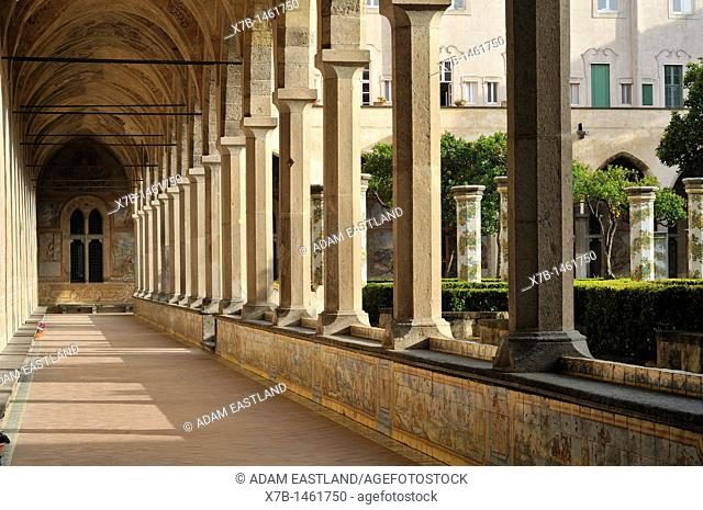 Naples  Italy  Cloister of the church & convent of Santa Chiara