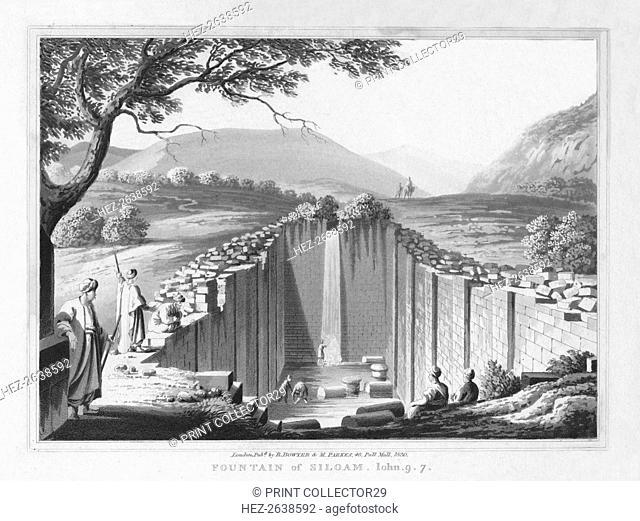 'Fountain of Siloam. John. 9.7.', 1830. Artist: J Clarke
