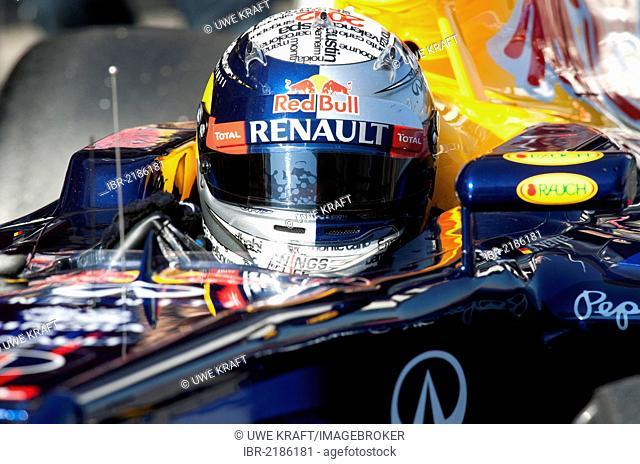 Sebastian Vettel, GER, Red Bull Racing RB8, during the Formula 1 testing sessions, 21.-24.2.2012, at the Circuit de Catalunya in Barcelona, Spain, Europe