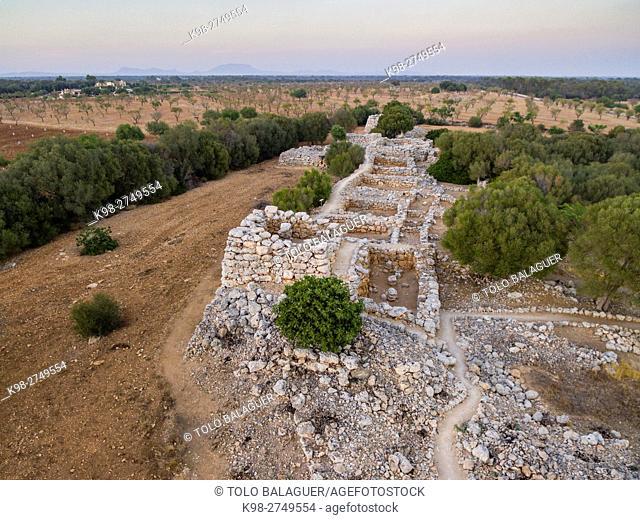 poblado prehistórico de Capocorb Vell. Llucmajor, Majorca, Balearic Islands, Spain