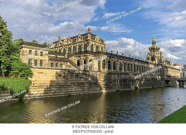 Germany, Dresden, Zwinger palace at sunlight