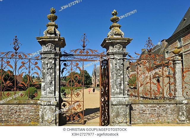 Chateau de Carrouges, Domfront, department of Orne, Normandie region, France, Europe