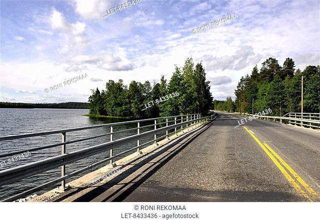 A bridge on a road in Eastern Finland near Kerimäki