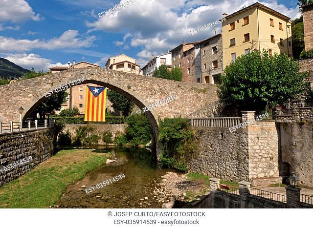 village of La Poble de Lillet, Bergueda, Barcelona province, Catalonia, Spain
