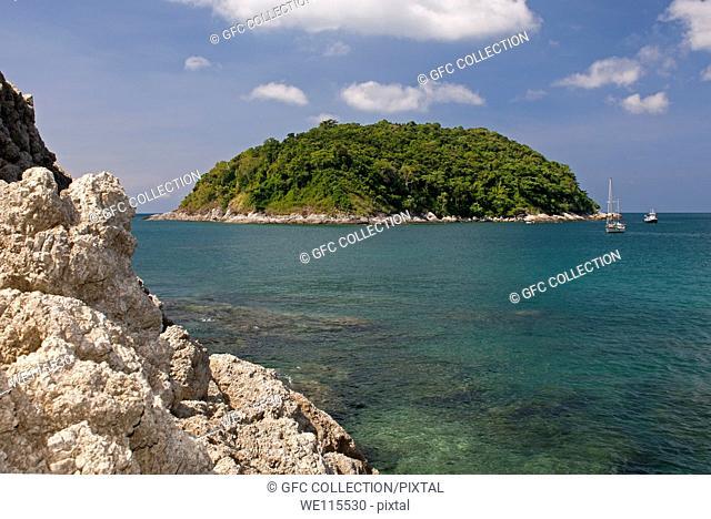 The Ko Man or Mun Island off the Southern coast of Phuket island, Thailand