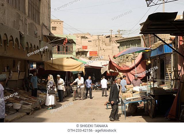Bazaar, Old town of Kashgar, Xinjiang Uyghur autonomy district, Silkroad, China