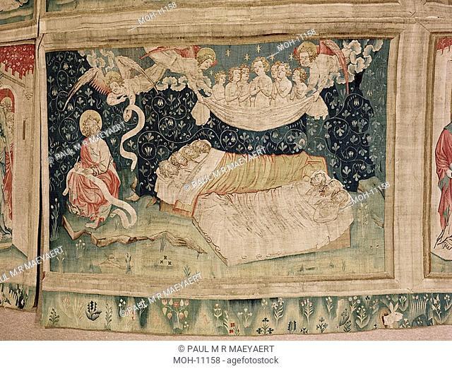 La Tenture de l'Apocalypse d'Angers, Le sommeil des justes 1,59 x 2,50m, der Schlaf der Gerechten