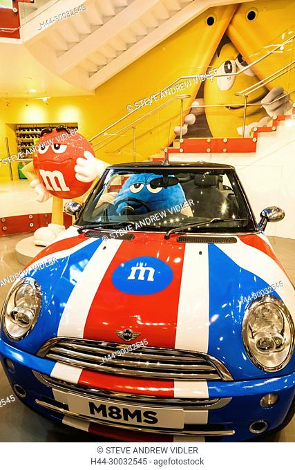 England, London, Leicester Square, M&Ms Store