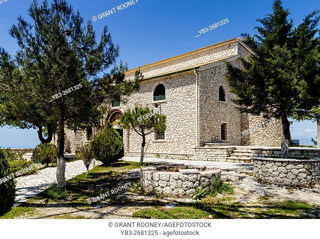 The Monastery Of Ipsilos, Mount Pantokrator, Corfu Island, Greece