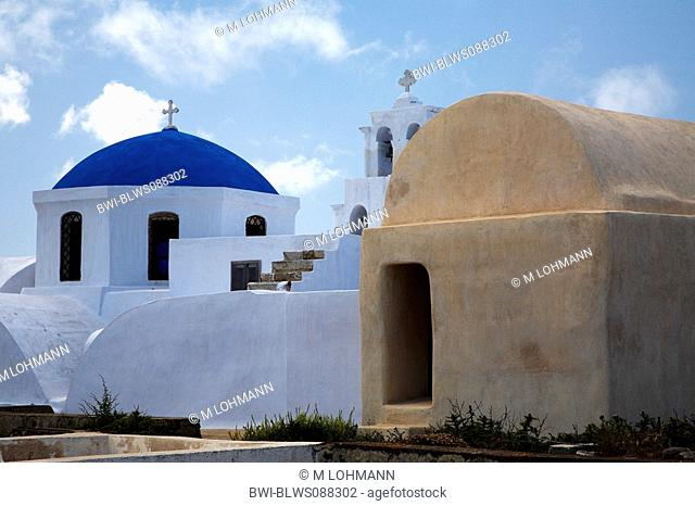 church at Pirgos, Greece, Santorin, Pirgos