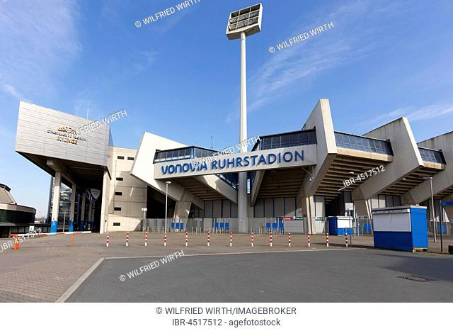 Vonovia Ruhrstadion, football stadium of VfL Bochum, Bochum, Ruhr district, North Rhine-Westphalia, Germany