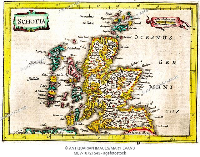 17th century Map of Scotland (Schotia)