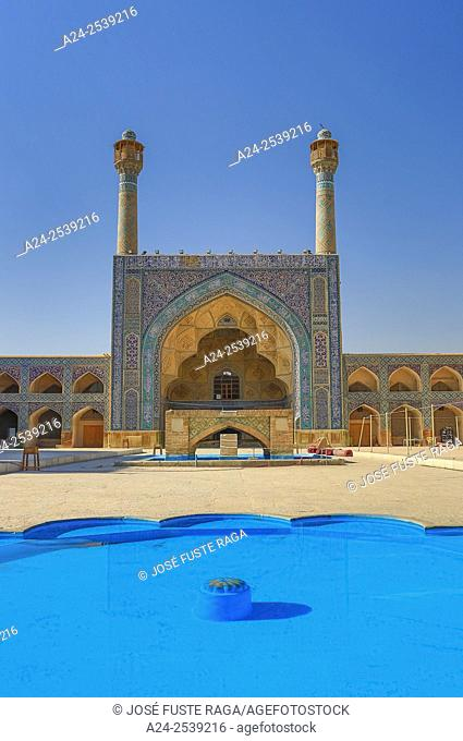 Iran, Esfahan City, Masjed-e Jame (Friday Mosque) UNESCO, (w. h. ), South Iwan,