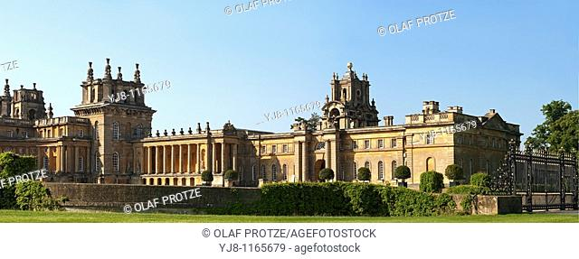 Panoramic Image of Blenheim Palace near Oxford, South East England