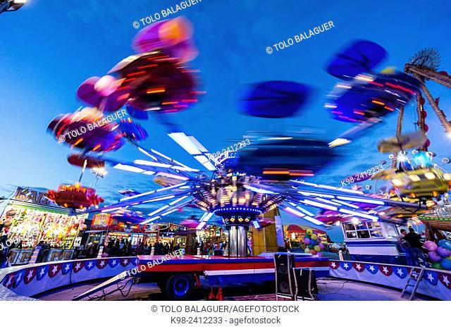 feria del Ram, - feria del Ramo -, parque de atracciones, Palma de Mallorca , Mallorca, Balearic Islands, Spain