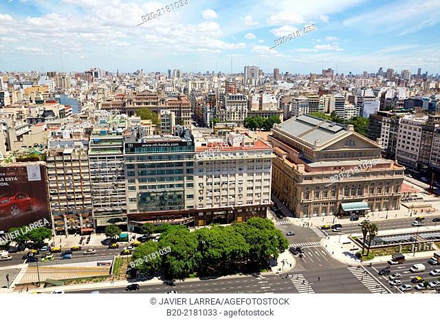 Teatro Colon. Avenida 9 de Julio. Buenos Aires. Argentina