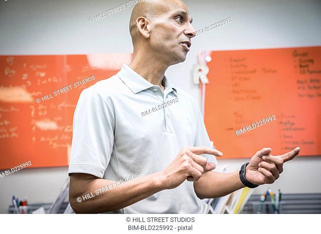 Businessman talking in office