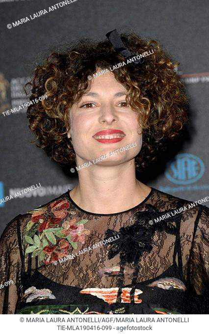 Ginevra Elkann during the red carpet of David of Donatello prize, Rome, ITALY-18-04-2016
