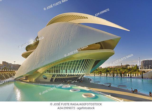 Spain, Valencia City, The City of Arts and Science, Calatrava architect, The Auditorium Bldg