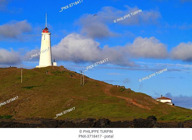 Iceland, Sudurnes, Reykjanesviti lighthouse