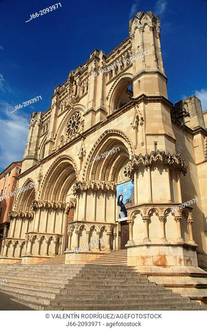 Cathedral of St Mary and St Julian, Neo gothic, Cuenca, Castile La Mancha, Spain