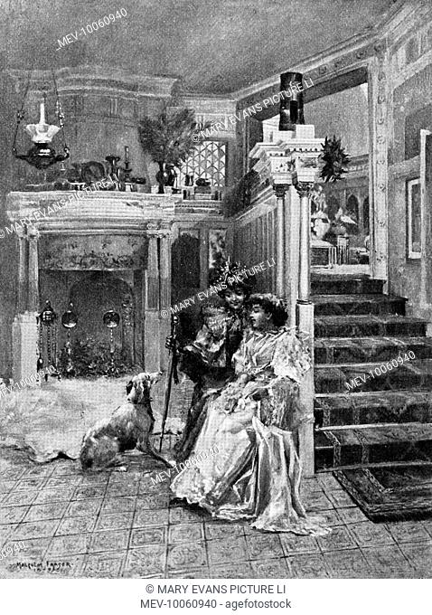 SIR LAWRENCE ALMA-TADEMA Reception room at the artist's London home, North Gate, Regent's Park