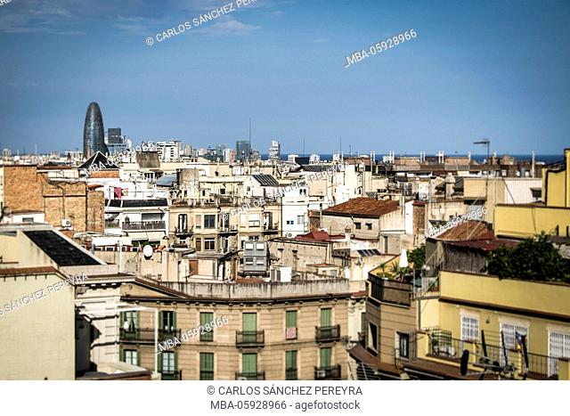 Panoramic of Barcelona, Catalonia, Spain