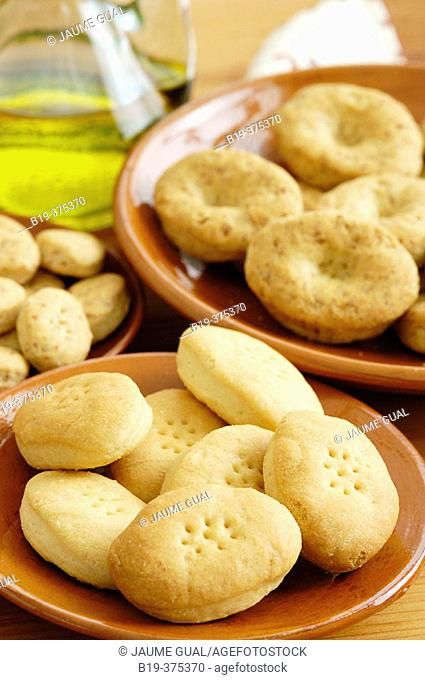 Typical oil biscuits. Majorca, Balearic Islands. Spain