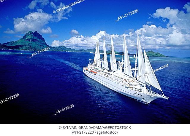 . Bora-Bora in the Leeward islands. Society archipelago. French Polynesia