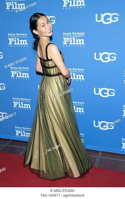 Hong Chau attends 33rd Santa Barbara International Film Festival Virtuosos Award at Arlington Theatre on February 3, 2018 in Santa Barbara, California