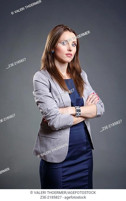 Studio portrait of a female office worker