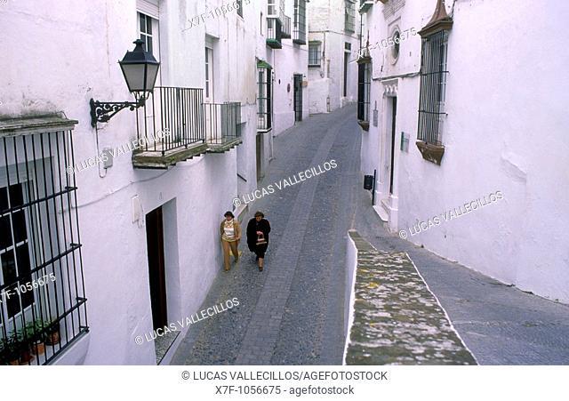 Cuesta Belén street,Arcos de la Frontera, Pueblos Blancos 'white towns', Cadiz province, Andalucia, Spain