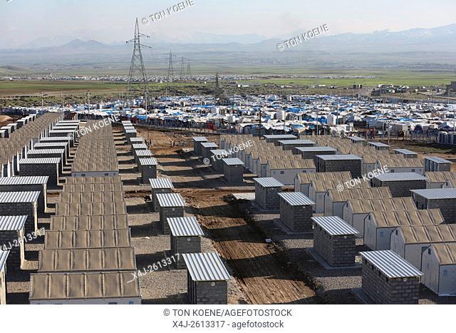 lavatory in refugee camp in Northern Iraq