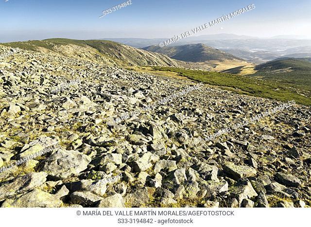 The Barrerones hills from Cagarruta hill in the Sierra de Gredos. Avila. Spain