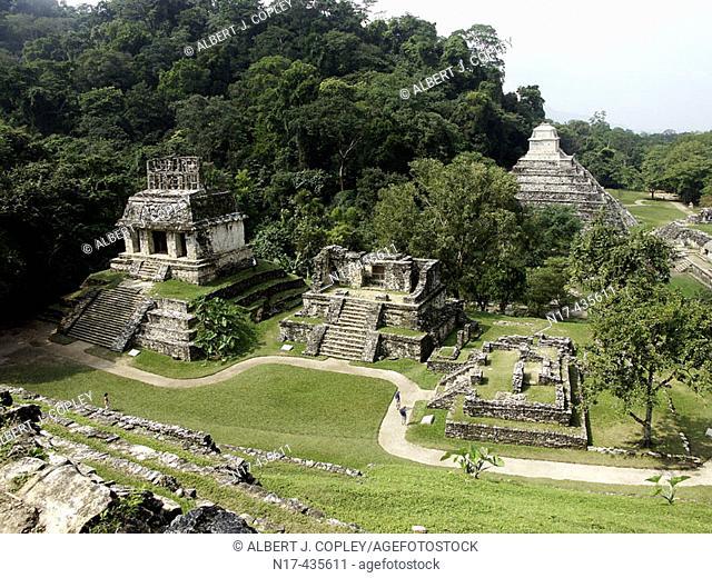 Palenque, Maya archeological site (600 - 800 A.D.). Chiapas, Mexico
