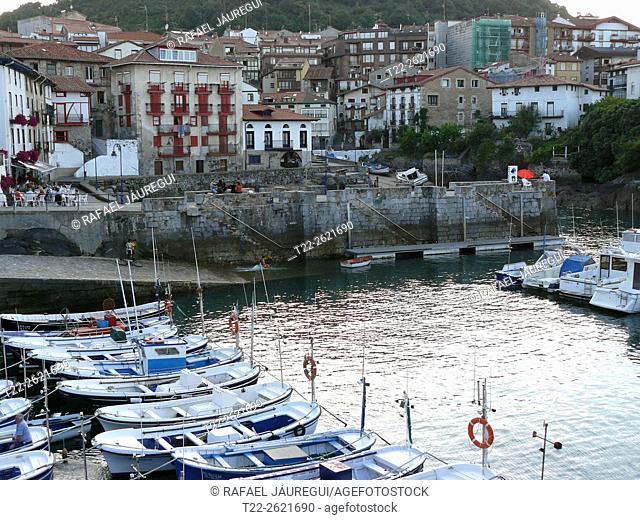 Mundaka (Basque Country) Spain. Port of Mundaka
