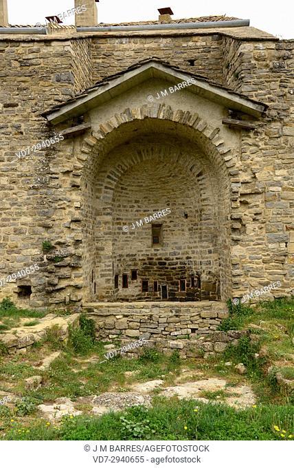 Abizanda, Asuncion gothic church. Sobrarbe, Huesca province, Aragon, Spain