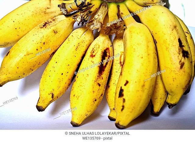 Close up of banana,Poona,Mahrshtra,India