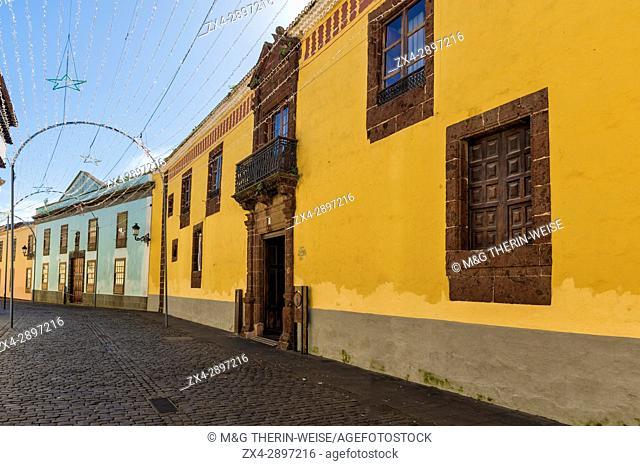 Alhondiga house in the Obispo Rey Redondo street, Santa Cruz, Tenerife, Spain
