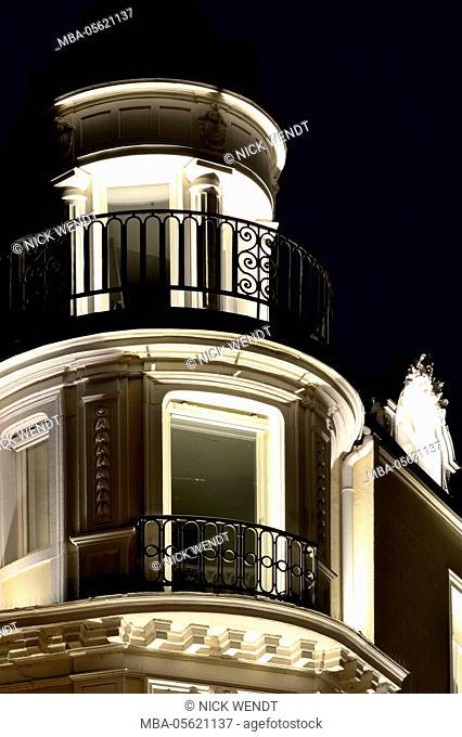 Baden-Baden, illuminated town house