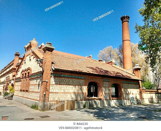 Matadero Cultural Center, formerly the slaughtherhouse of the city, Madrid, Spain