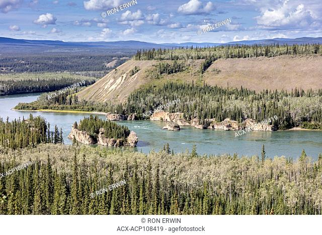 Five Finger Rapids trail on the Yukon River near Carmacks, Yukon, Canada