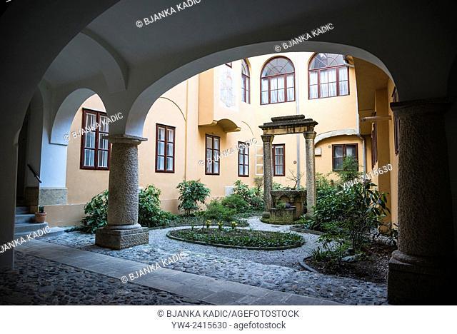 Zbirka Dr Ivana Ribara, Atrium of a Traditional house, The Upper Town, Zagreb, Croatia