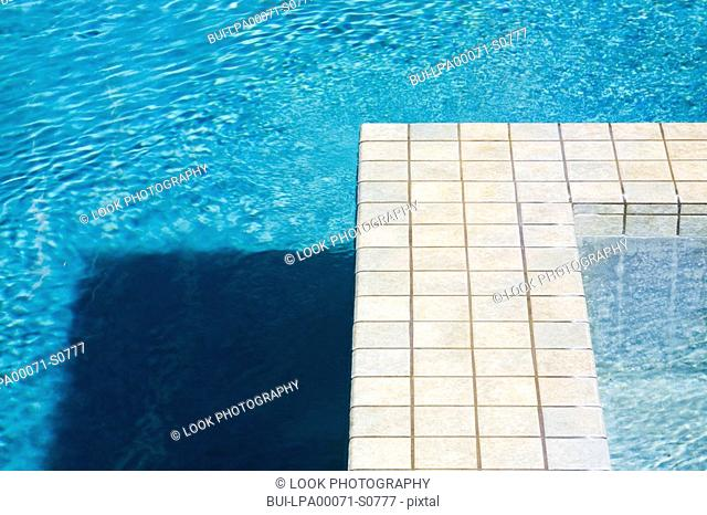 Swimming Pool and Jacuzzi with Tile