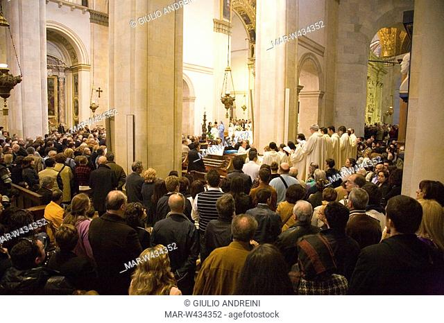 europe, italy, marche, loreto, sanctuary of the holy house, holy mess, celebrations of the holy easter on sunday morning