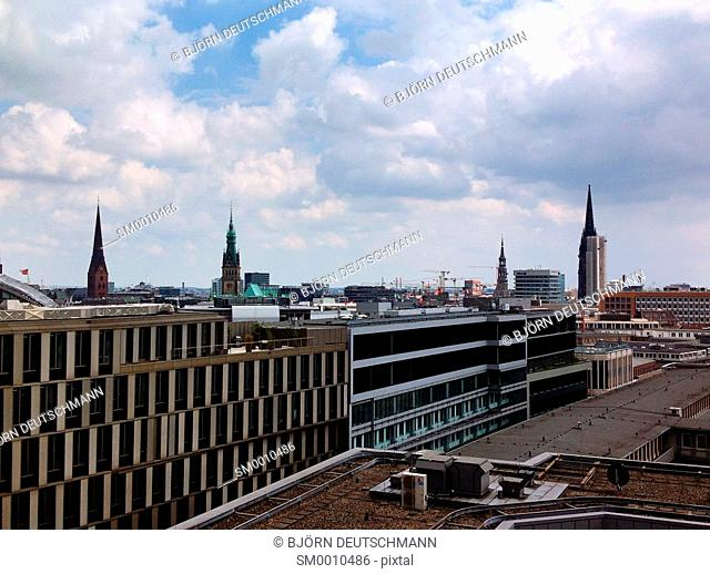 Over the roofs of Hamburg