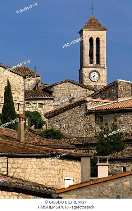 France, Ardeche, Balazuc, labelled Les Plus Beaux Villages de France The Most Beautiful Villages of France, village along Ardeche River Gorges