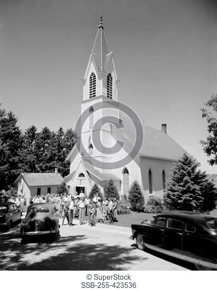 Iowa, Clayton County, Farmersburg, Sunday mass